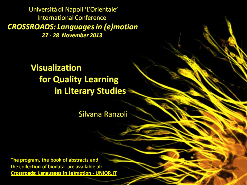 Visualization for Quality Learning in Literary Studies